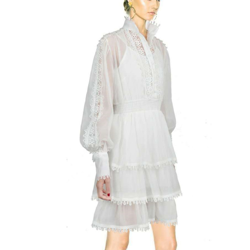 Di Calda Solido Nuovo Moda Sexy Black Vestiti Alla white Del Vendita Marea Modo Casual Delle Vestito Estate Bf847 2019 Increspature Donne Primavera Deat dE6fqd
