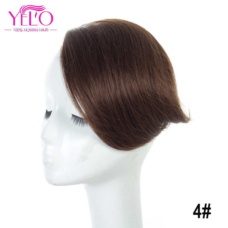 Йело перуанский клип в человеческие волосы с челкой удлинение волосы не имеющие повреждения кутикулы зажим 1b #2 #4 #613 # красный #27/613 # клип на челка волос фигурки жениха и невесты;