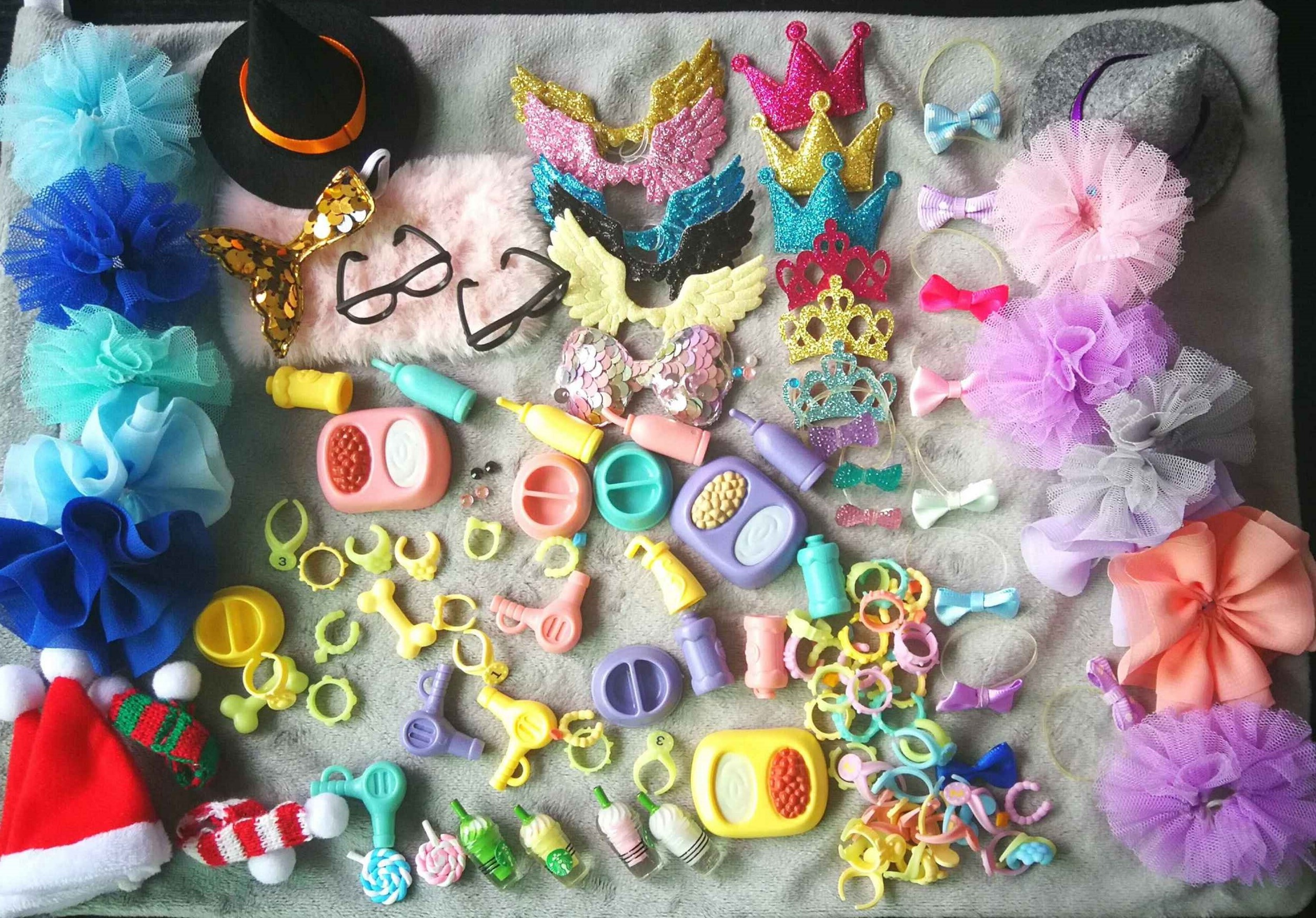 Necklace Earring Dress Bones Wings Pet-Shop-Accessories Crown Food-Drinks 18-Pcs Skirt