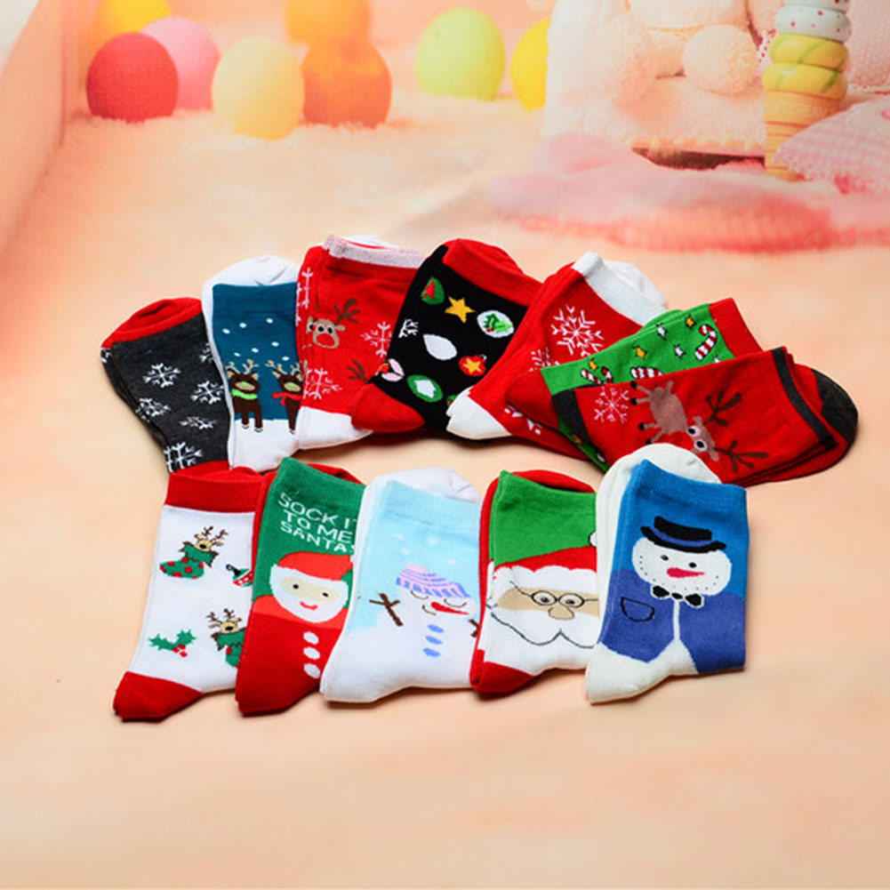 Women And Men Christmas Cotton Sock Cartoon Animal Paradise Thick Cute Comfortable Stripe Short Ankle Soxs Free Shipping