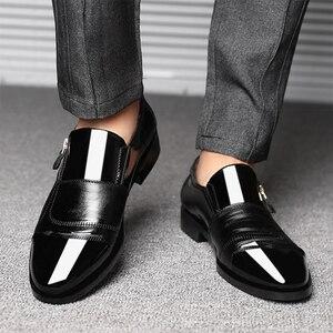 Image 3 - UPUPER 클래식 비즈니스 남자 드레스 신발 패션 우아한 공식적인 결혼식 신발 남자 슬립 사무실 옥스포드 신발 남자 블랙