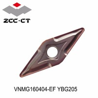 Original ZCC VNMG160404-EF VNMG160404-EF YBG205 insertos de carburo VNMG 160404 160404 YBG205 herramientas para torneado torno herramientas toczenie CNC