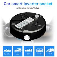 Car Power Inverter DC12V/24V to AC 100V 120V/220V 240V 150W Inverter Digital Dsiplay Voltage 4 USB Port Socket