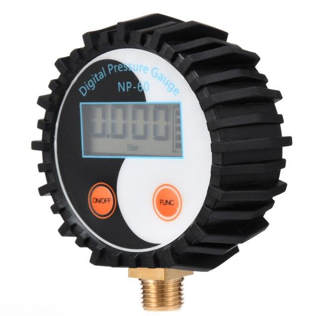 1pc 0-200PSI numérique manomètre batterie puissance gaz manomètre testeur outil NP-60 G1/4 avec résistance aux vibrations