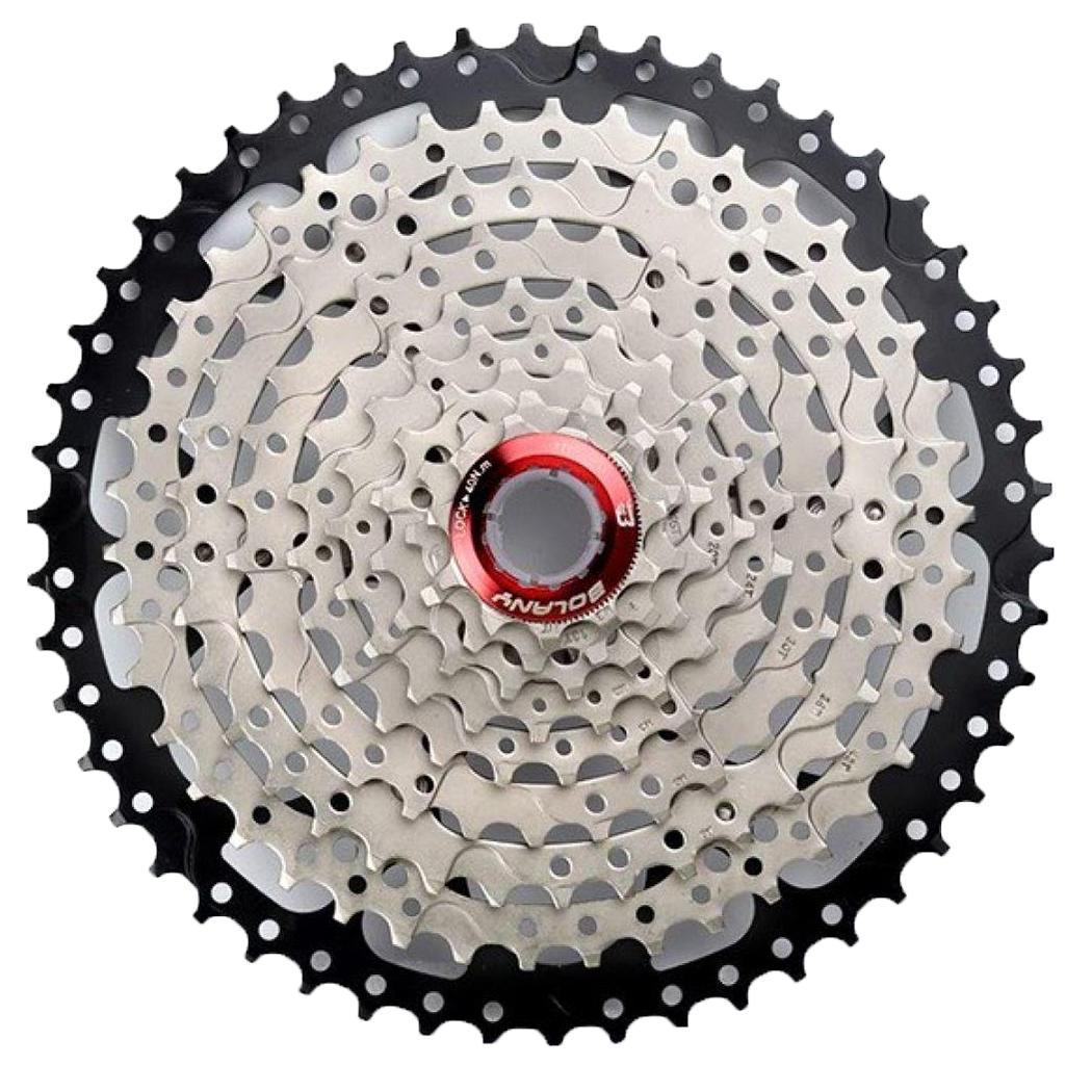 9/27 vitesse vélo volant VTT argent noir roue vitesse accessoires