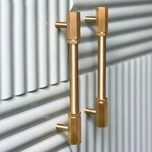 Gold Brass Hexagon Knobs Cabinet Knob Handle Dresser Drawer T Bar Pulls Bedroom Furniture Hardware