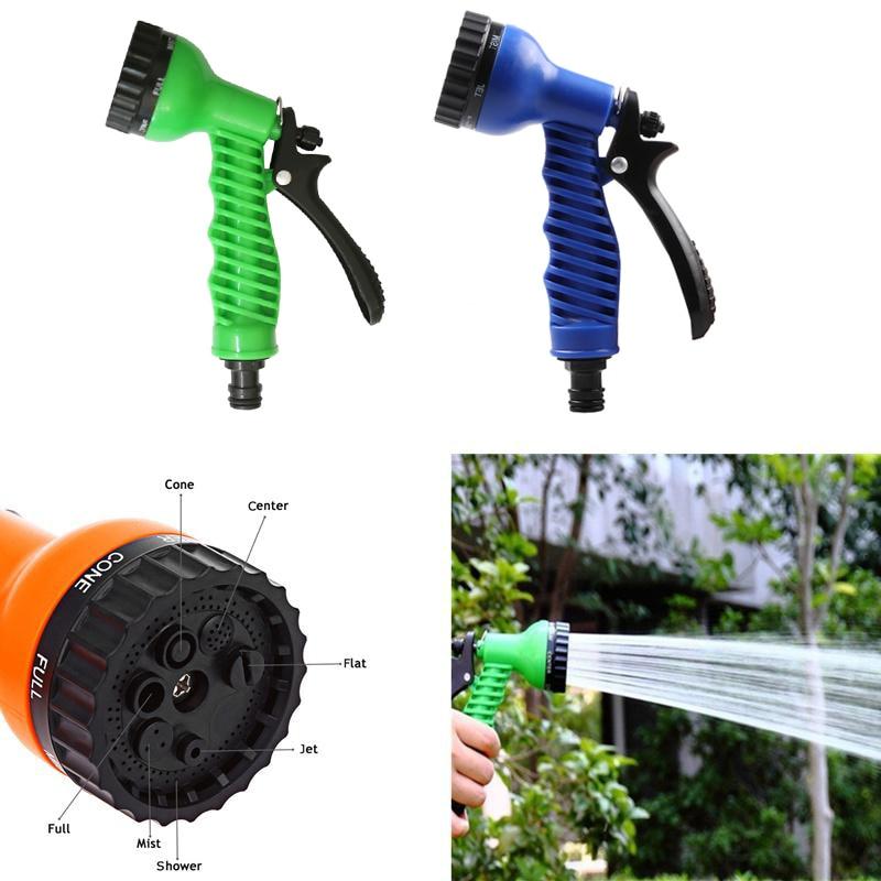 Image 3 - 7 in 1 Patterns Garden Water Sprayers Water Gun Household Watering Hose Spray Gun for Car Washing Cleaning Lawn Garden Watering-in Garden Water Guns from Home & Garden