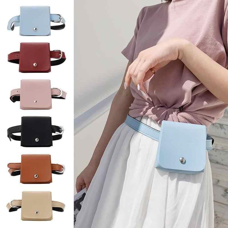 耐久性のある Pu レザーファニーハンドバッグ女性ミニシンプルなメッセンジャー無地ファッションウエストバッグ新到着小キャンディー財布