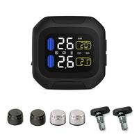 Pressure Gauge Motorcycle Real Time Tire Pressure Monitoring System TPMS Wireless LCD Display Internal or External TH/WI Sensors