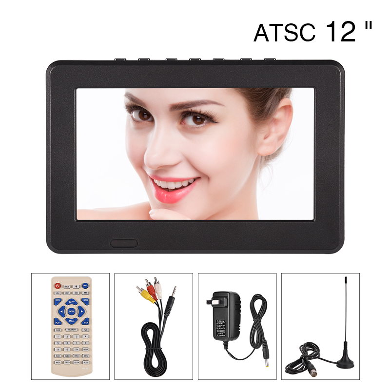 LEADSTAR Portable ATSC 12 inch 16:9 Digital Television TV TFT LED