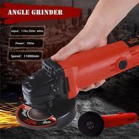100mm 800W 110V/220V Electric Angle Grinder Grinding Sander Wheel Tools Angle Grinder Portable Grind Cutting Polishing Machine