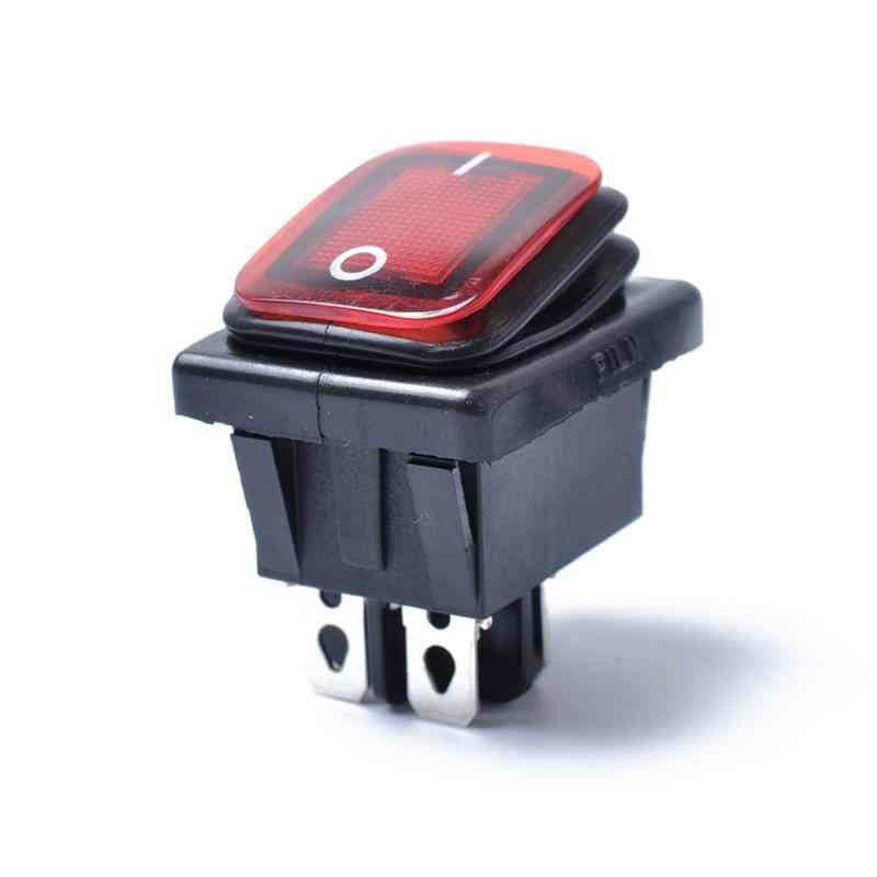 Rocker Schakelaar On-Off-On 4 Pins 12 V DC Auto Boot Automobiles Waterdichte LED Schakelaars (rood Licht)