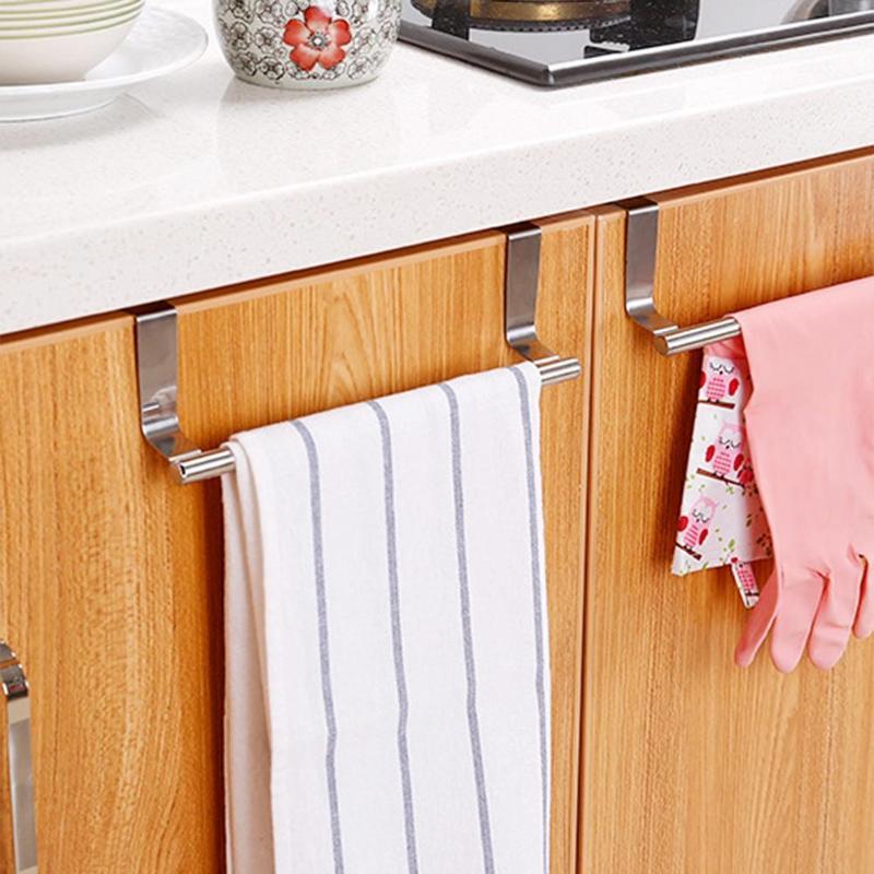 1PCS Stick Hook Hanger Kitchen Home Shelf Rack Adhesive Wall Door Stainless Steel Holder Organizador Organizer Rack Hanger Towel