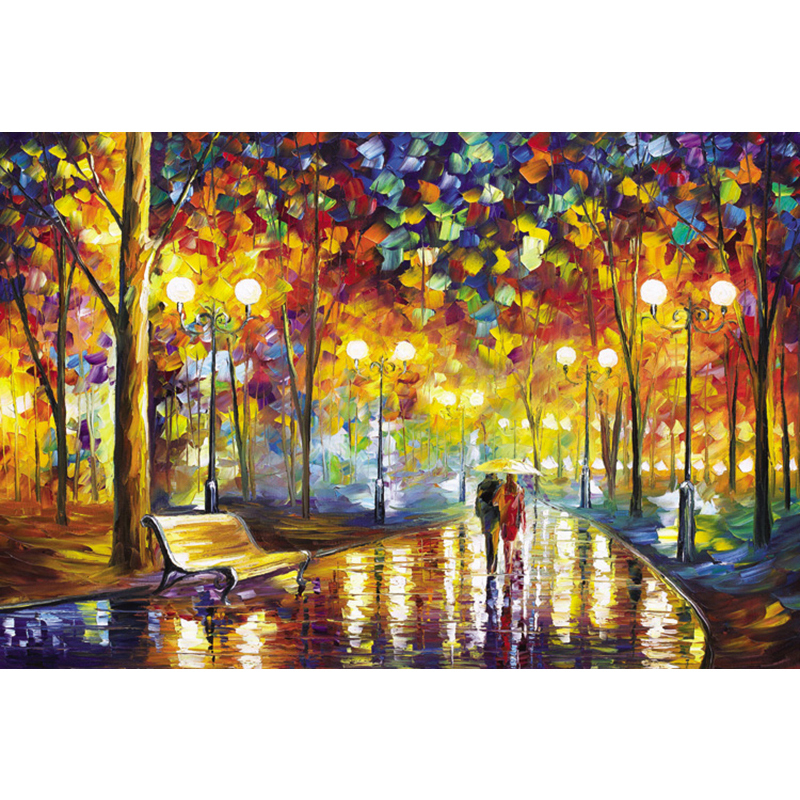 Wooden Jigsaw 1000 Pieces World Famous Painting Puzzles Toys For Adults Children Kids Toy Home Decoration Collectable New