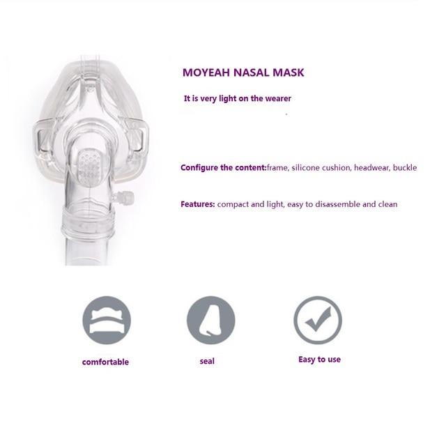 Cpap Masks CPAP Headgear Cpap Nasal Mask Sleep Apnea Mask With Headgear For Cpap Machine Sleep Apnea CE FDA Passed By Moyeah 10