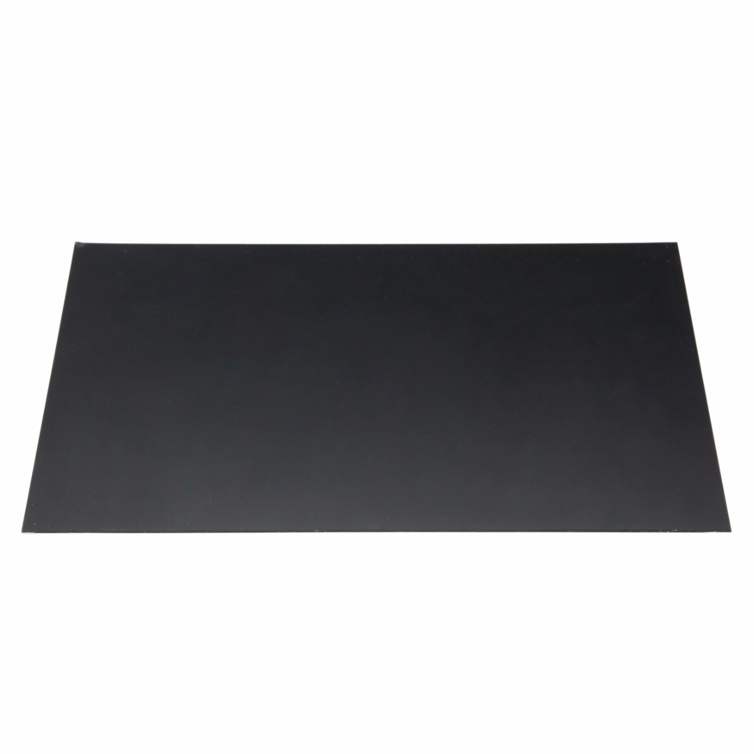 1pcs Black Durable ABS Styrene Plastic Flat Sheet Plate 1mm X 200mm X 300mm For Industrial Components