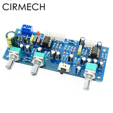 CIRMECH 2.1 kanałowy subwoofera przedwzmacniacz płyty dolnoprzepustowym filtrem wstępnie wzmacniacz AMP pokładzie NE5532 dolnoprzepustowym filtrem bas przedwzmacniacz