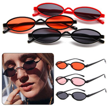 Vintage Small Oval Sunglasses Women Sexy Brand Designer Sun Glasses Retro Metal Frame Shades Eyewear gafas de sol все цены