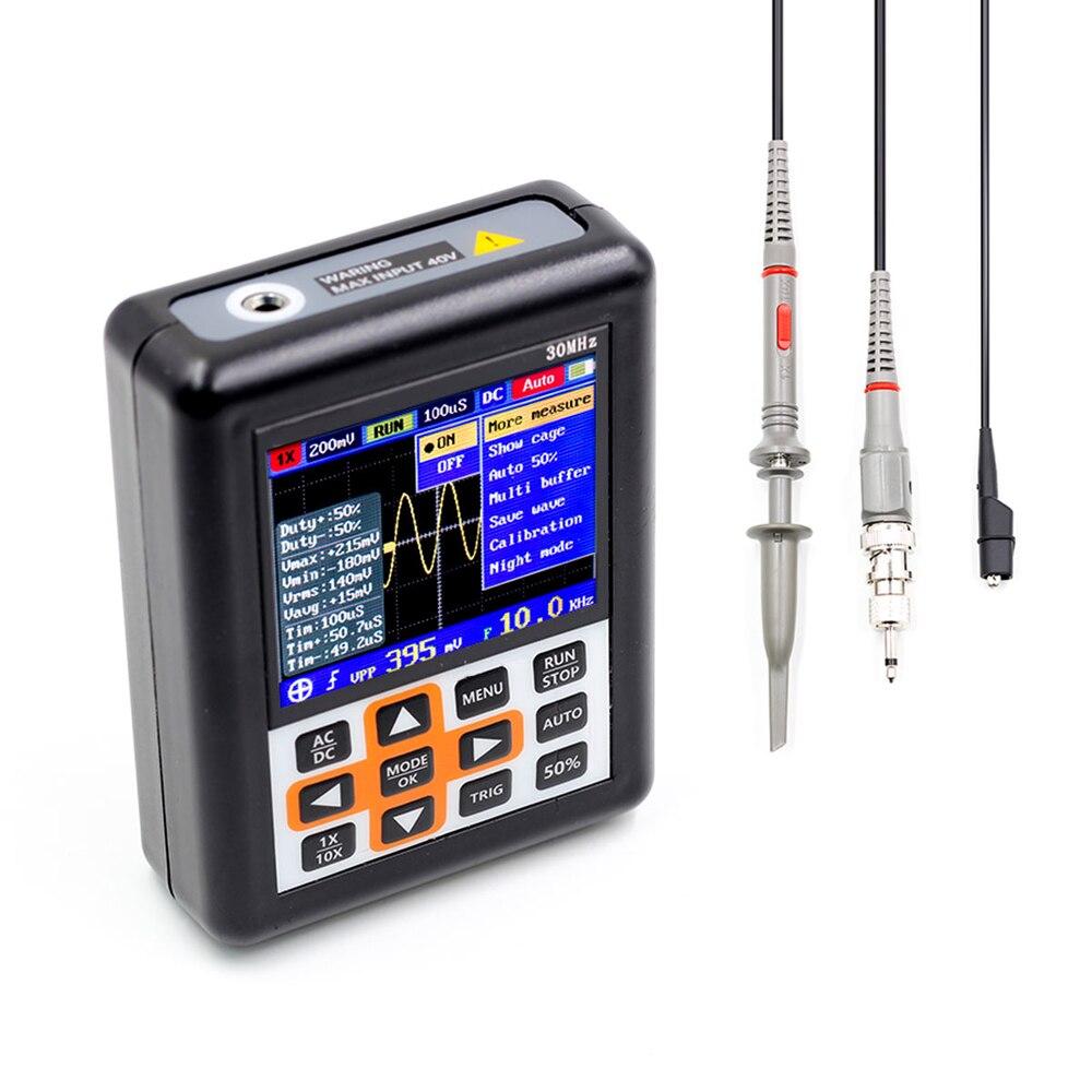 Mini Numérique De Poche Oscilloscope usb oscilloscopes de 30 MHz Bande Passante 200 M Taux D'échantillonnage Intégré batterie au lithium