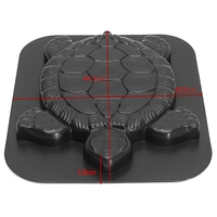 Turtle Path Mold Concrete Stepping Stone Plastic Cement Manually Paving Molds Road Making Tool For Courtyards Garden