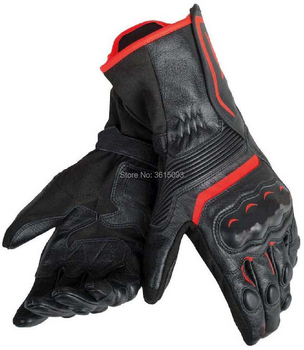 Free shipping 2018 Dain Assen Black Red High Quality Comfortable Motorcycle Gloves Leather Racing Glove