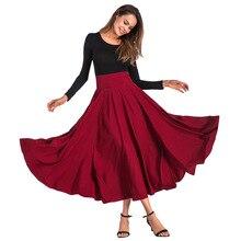 2019 女性のスカートビッグスイングスカートエレガントな固体弓見えないポケット黒色プラスサイズの女性のスカート