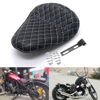 Motorcycle Diamond Style Solo Driver Seat w/ Spring For Harley Chopper Bobber Custom Sportster Dyna XL 883 1200 72 48