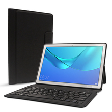 For Huawei MediaPad M5 10.8 / 10 Pro Case CMR-AL09 CMR-W09 With USA Keyboard PU Leather Folding Flip Stand Smart Keyboard Cover цены онлайн