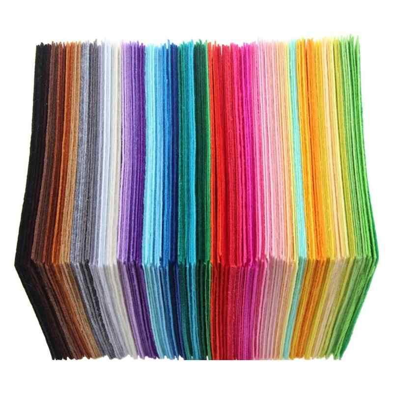 40 قطعة/المجموعة غير المنسوجة ورأى النسيج البوليستر القماش ورأى النسيج Bundle بها بنفسك حزمة Sewing دمية اليدوية الحرفية سميكة ديكور المنزل الملونة