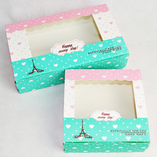 50 Pcs Paper Box Window Candy Gift Wedding Birthday Party Favors Cookies Cup Cake Kraft Packaging Cardboard