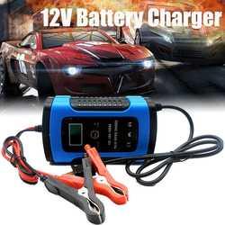 12 V 6A LCD inteligentne szybka ładowarka akumulatora samochodowego dla Auto motocykl kwasowo-ołowiowy AGM akumulatory żelowe inteligentne ładowanie 12 V Volt 6 AMP