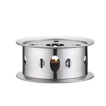 Свеча база нагреватель Серебряный Круглый Кофе чайник теплее Trivets нержавеющая сталь блюдо практичный