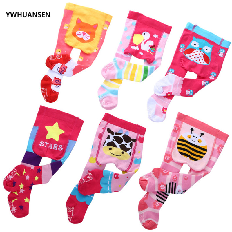 YWHUANSEN 0-12M Cotton Baby Girl's Tights Cute Animal Tights For Infant Girls Anti-slip Children Tights For Newborns Boys 2019