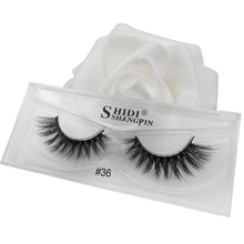 SHIDISHANGPIN 1 pair volume mink eyelashes cruelty free false plastic cotton stalk full strip lashes maquiagem cilios