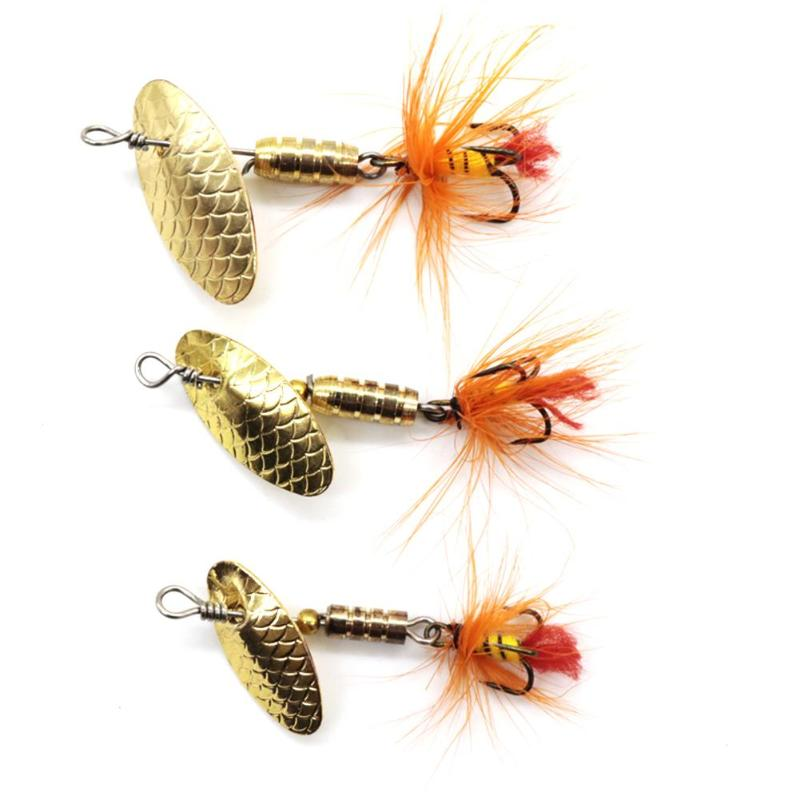 LUSHAZER Sequin Spoon Fishing Lures Metal Spinner Feather  Fishing Baits Hard Fishing Lures 2g 3g 4g Fish Tackle Tools