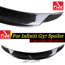 High-quality Carbon Fiber Rear Trunk Spoiler Wing Lip Car-Styling For Infiniti G37 4Door Sedan Rear Trunk Spoiler Wing 2007-2013 стоимость