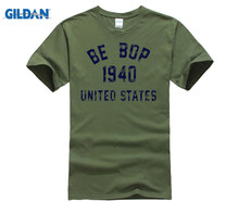 GILDAN Be Bop 1940 Jazz T-Shirt 100% Premium Cotton Charlie Parker John Coltrane  New Fashion MenS T Short Sleeve