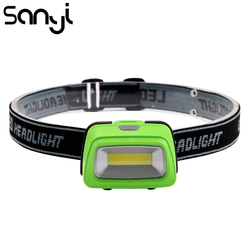 SANYI 3 Modes Headlamp Torch 3800 LM Proyector Light LED Flashlight Forehead Camping Climbing Mini Red White Headlight