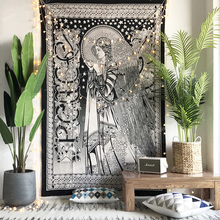 Loartee Witchcraft Lucky Goddess Peace Angel Astrology Tapestry Ancient Divine Bohemian  Home Wall Hanging Cloth Decoration
