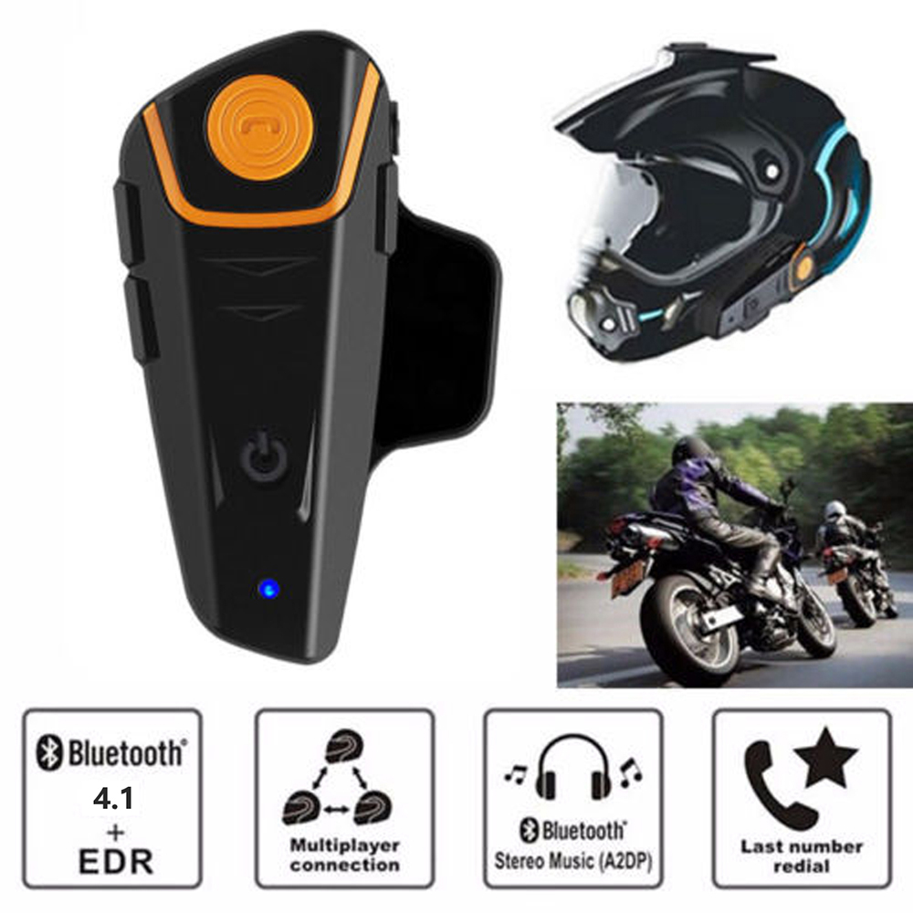 Original BT-S2 Pro Moto Motorcycle Helmet Intercom IPX7 Waterproof FM 1000M Motorcycle Intercom Bluetooth Helmet Headset