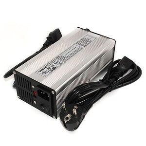 Image 2 - 54.6V 7A Charger 13S 48V E Bike Li ion Battery Smart Charger Lipo/LiMn2O4/LiCoO2 battery Charger With Fan Aluminum Case