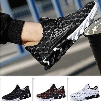 6b26ee6caa7 Zapatos de hombre populares para hombre con cordones de estilo a la moda  cómodos Zapatillas casuales transpirables para jóvenes calzado de deporte
