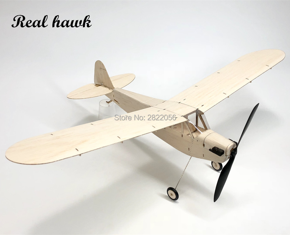 Mini RC Plane Laser Cut Balsa Wood Airplane Kit Mentor Piper Cub J3 Model Building Kit