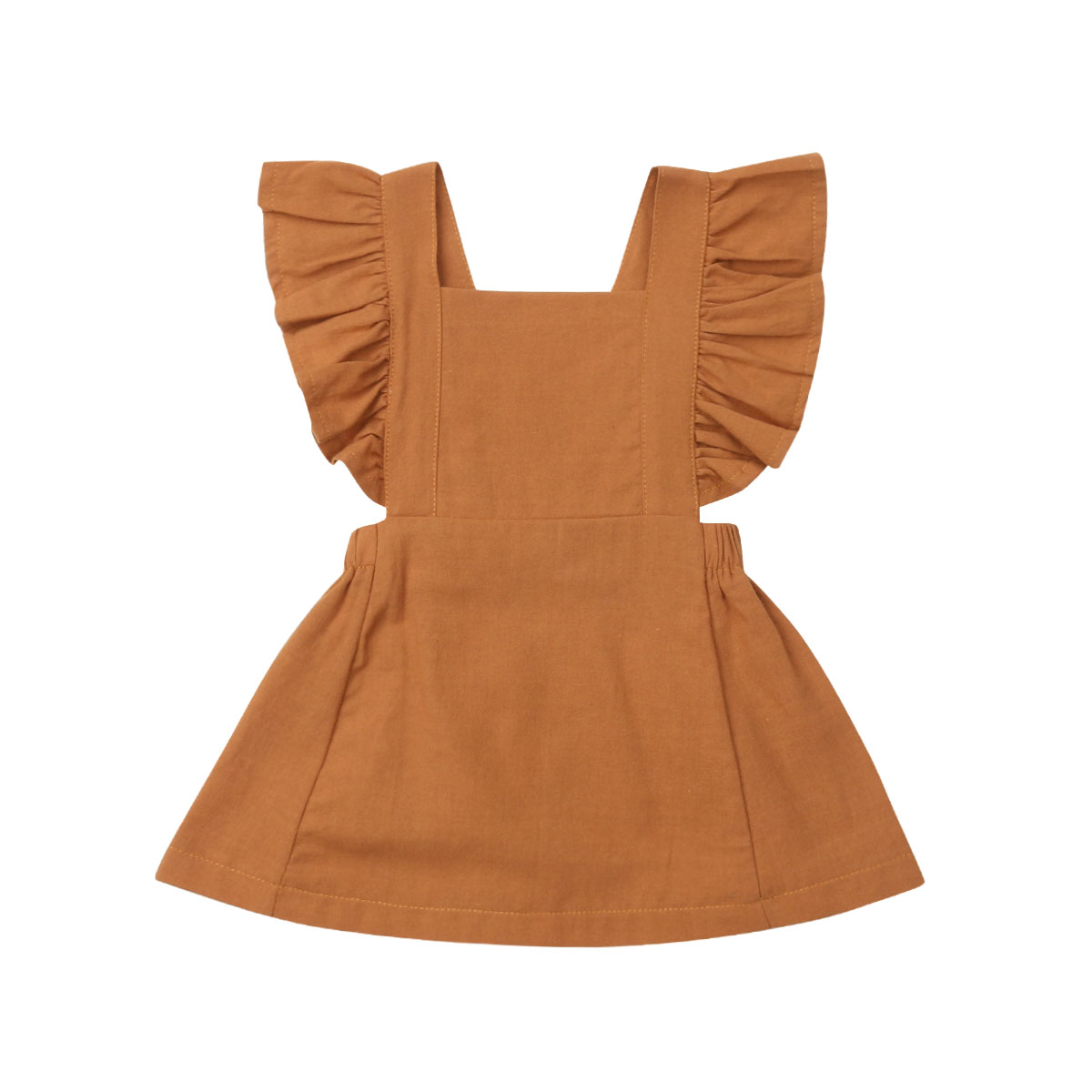 Pudcoco Newborn Kids Baby Girl Solid Color Dress Sleeveless Ruffle Party Dress Sundress 6 ColoursPudcoco Newborn Kids Baby Girl Solid Color Dress Sleeveless Ruffle Party Dress Sundress 6 Colours