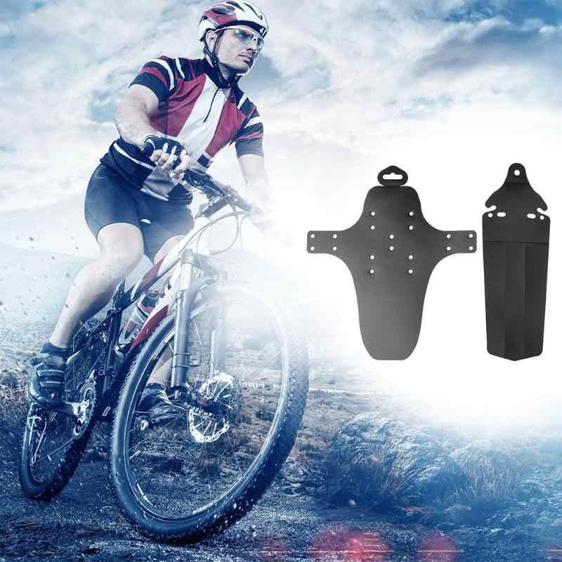 2 قطع الدراجة الجبلية MTB دراجة الجبهة + واقِ الطين الخلفي ضوء الوزن دراجة المصدات لينة 360 درجة التواء قطعة من نسيج دراجة نظافة
