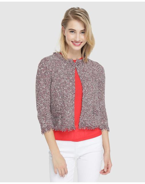 0653845a7 € 14.99 50% de DESCUENTO Aliexpress.com: Comprar Chaqueta de mujer Fórmula  Joven en tweed cuello redondo de chaquetas básicas fiable proveedores ...