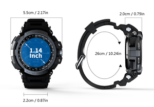 Image 5 - LOKMAT MK28 Smart Uhr 1,14 zoll Bildschirm BT4.0 Leben Wasserdicht Schrittzähler Kalorien Alarm Sport Männer Smartwatch Für Android/iOS
