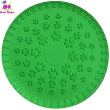 Durable Dog Flying Discs Floating Soft Flexible Rubber For Medium Large Pet Training Saucer Juguete Morder Perro