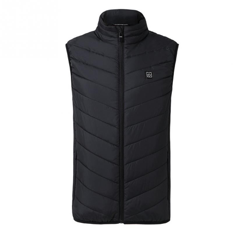 New Men Women USB Electric Heated Vest Heating Waistcoat Thermal Warm Clothing Feather Outdoor Winter Jacket usb ultra thin winter electric heated sleevless hiking vest jacket winter warm down infrared heated outerwear coats slim fit