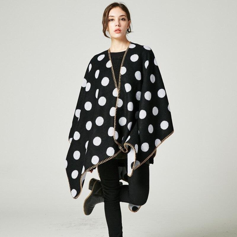 2019 New Fashion Autumn/Winter Warm Poncho For Women Average Code Cape Shawls Soft Luxury Brand Cashmere Cloak In Stock